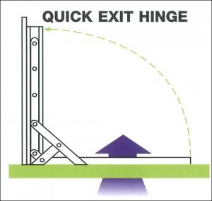 quick exit hinge